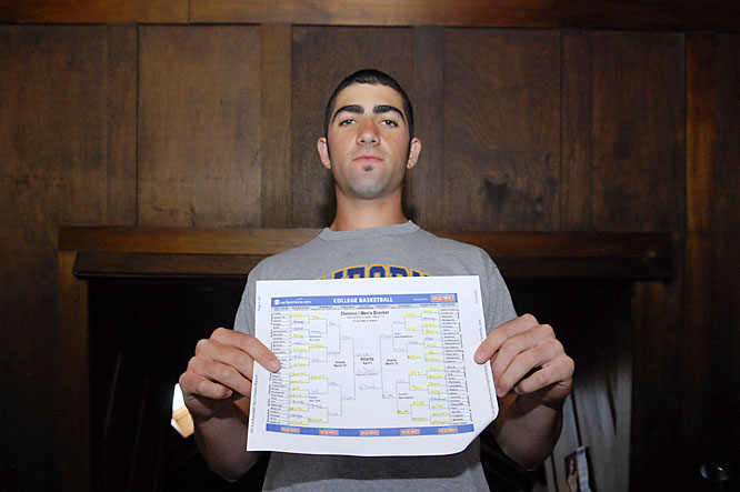 Josh's NCAA Tourney bracket. Hey, March Madness gets to baseball players too. His picks? Georgetown over UCLA in the national championship game. Needless to say, he didn't win his pool.