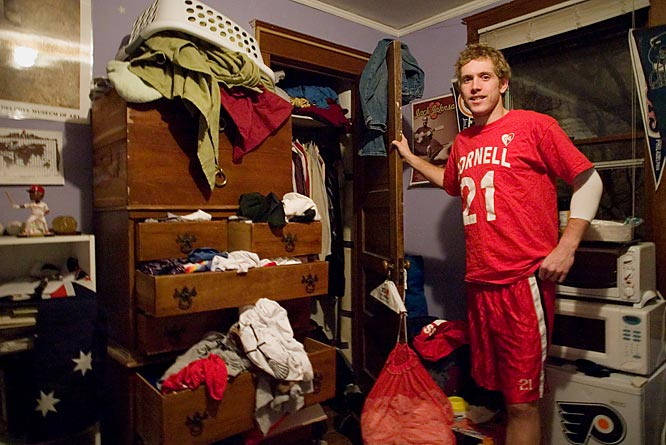 If you had to work hard enough to be an All American goalie while also maintaining a 4.0 GPA as an Ivy League physics major, would you have time to clean your room?  Co-captain Matt McMonagle doesn't.