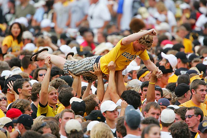 Surfs up at Folsom Field ... just ask this CU fan.