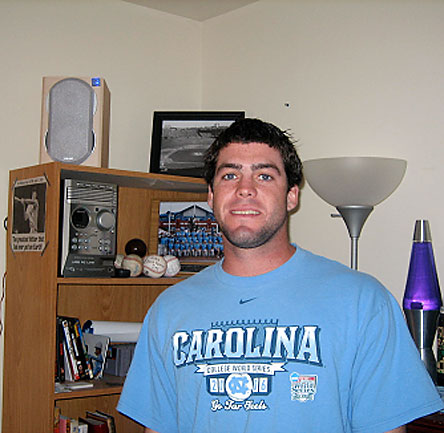 Meet Josh Horton -- the starting shortstop for the College World Series runnerup, North Carolina.<br><br>Nah, it's not obvious that Horton is a baseball fanatic.  And this is just one corner of his bedroom.