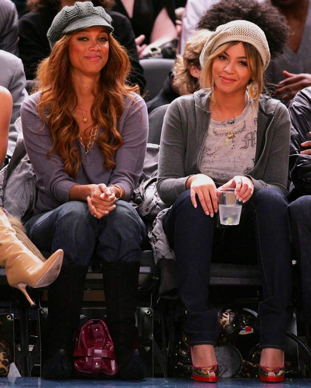 You have to give Tyra Banks and Beyonce credit. The Knicks collapsed at the end of the season, but the diehard fans still showed up at a game last week.