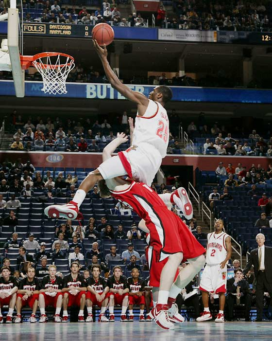 Senior forward Ekene Ibekwe got into foul trouble, but he still managed 11 points and 11 rebounds for Maryland.