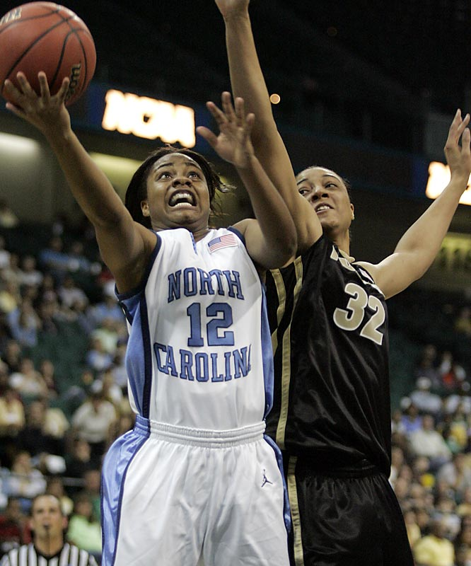 UNC's Ivory Latta scored 21 points against Purdue, her high for the tournament.