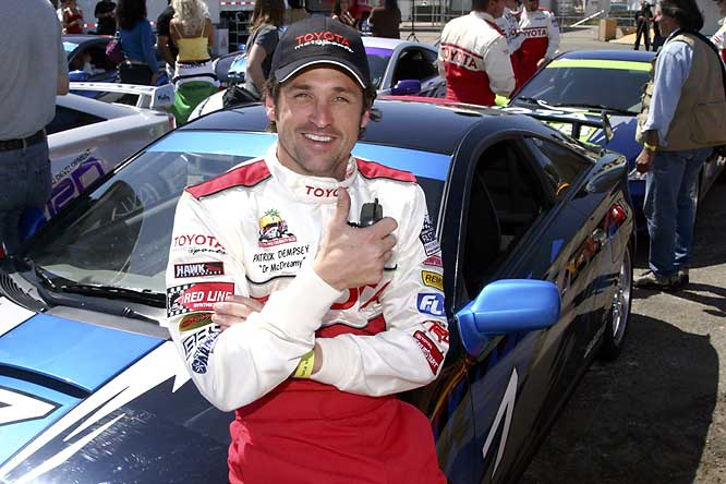 """McDreamy"" of ""Grey's Anatomy"" has participated in several celebrity races, including the 2005 race in Long Beach."