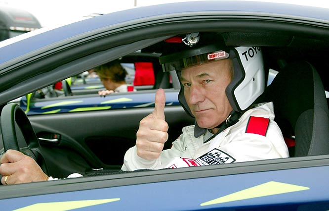 "The former ""Star Trek"" star raced in the 2002 celebrity event."