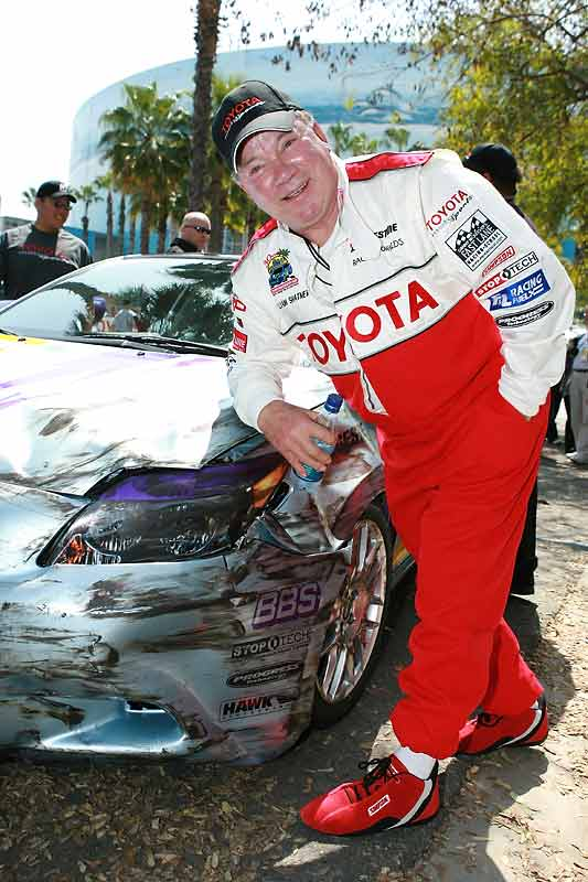 "The ""Boston Legal"" star learned that ""rubbin's racing"" during the 2006 Celebrity/Pro race."