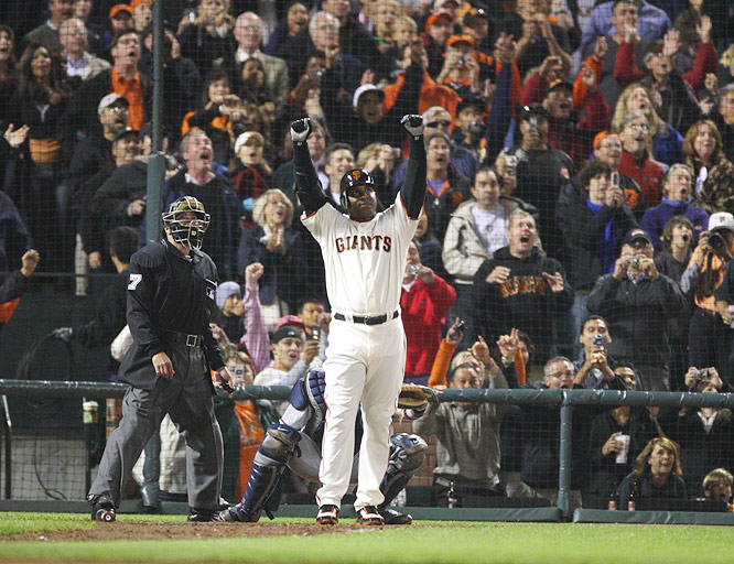 Barry Bonds<br>Date, Site: August 7, 2007, AT&T Park<br>Pitcher: Mike Bacsik<br>Inning: 5th, Men on Base: 0, Outs: 1<br>Game Result: Nationals 8, Giants 6<br>