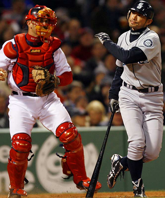 Ichiro went 0-for-4 against Dice-K, who was losing a pitching duel with Seattle's Felix Hernandez.