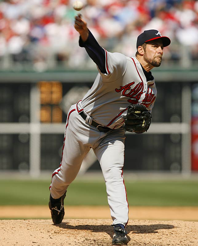 Braves ace John Smoltz had seven strikeouts over six innings.