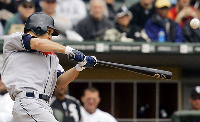 The Indians' Grady Sizemore led off the game with a homer to deep right.