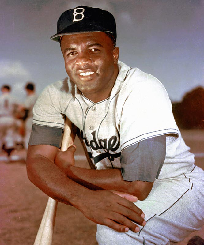 Jackie Robinson broke the color barrier in the major leagues on April 15, 1947. He went on to play 10 seasons for the Brooklyn Dodgers, winning the NL Rookie of the Year award in 1947 and the MVP in 1949 and leading the Dodgers to six league pennants and a World Series title in 1955. He was inducted into the Hall of Fame in 1962.