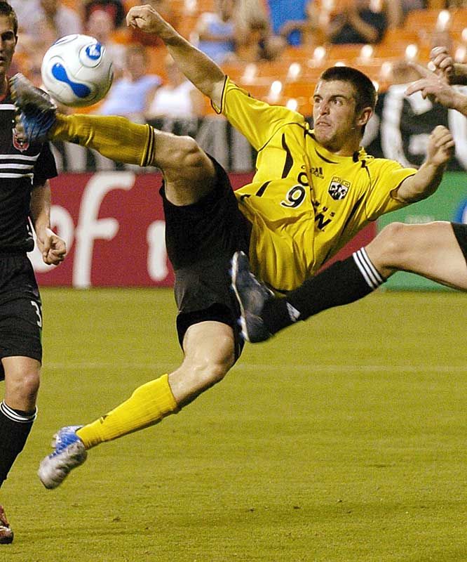 At the University of Maryland, Garey was automatic, with 60 goals in 68 starts. Then somehow, the Louisiana native fell to No. 3 in the '06 SuperDraft and started the season on the Crew's bench. But by midseason, the big target man was starting and wreaking havoc on MLS defenses, especially in the air. He finished with five goals and two assists. This season, the 22-year-old is Columbus' most consistent scoring threat. If he gets 10 goals, the Crew will make the playoffs.