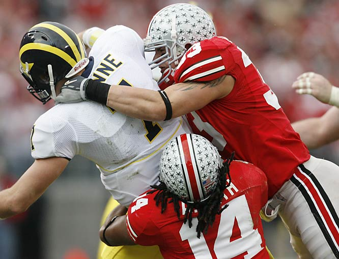 An intense defender with great instincts, Laurinaitis is another top NFL linebacker prospect from the Ohio State program.