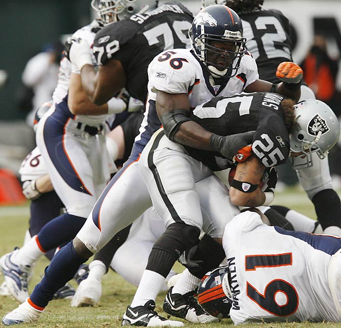 Denver tried to trade the eight-year veteran to the Giants, but Wilson failed his physical because of back and neck problems. The Broncos are still trying to deal the 29-year-old linebacker but the interest level will be lower.