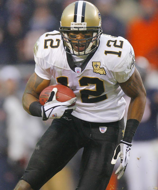 Even the Saints weren't sure how good Colston was when they drafted the big receiver out of Hofstra. But the the 6-foot-4, 231-pound Colston proved very difficult to cover in his rookie season. He caught 70 passes for 1,038 yards despite missing several games with an ankle injury.