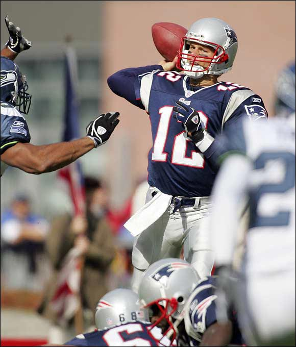 After Brady shared starting duties at Michigan with Drew Henson, most scouts didn't believe he had the physical tools to be a starting NFL quarterback. He was too thin, ran a slow 40 at the combine and didn't have a strong enough arm. The Patriots saw some upside, but even they had to be surprised at how successful Brady was after taking over for an injured Drew Bledsoe in 2001. Brady became the first QB to start and win three Super Bowls before age 28.
