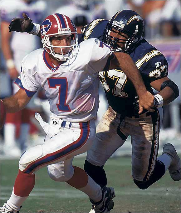 After playing at Western Illinois, Harrison broke in as a special-teams player and then became a star safety. He was named the Chargers' defensive player of the year in 1996 and '97 and was a Pro Bowler in '98. In 2003 he joined the Patriots and became a leader on a defense that helped New England win back-to-back Super Bowls. Harrison had a reputation for nasty hits but was respected for his nonstop motor and outstanding instincts.