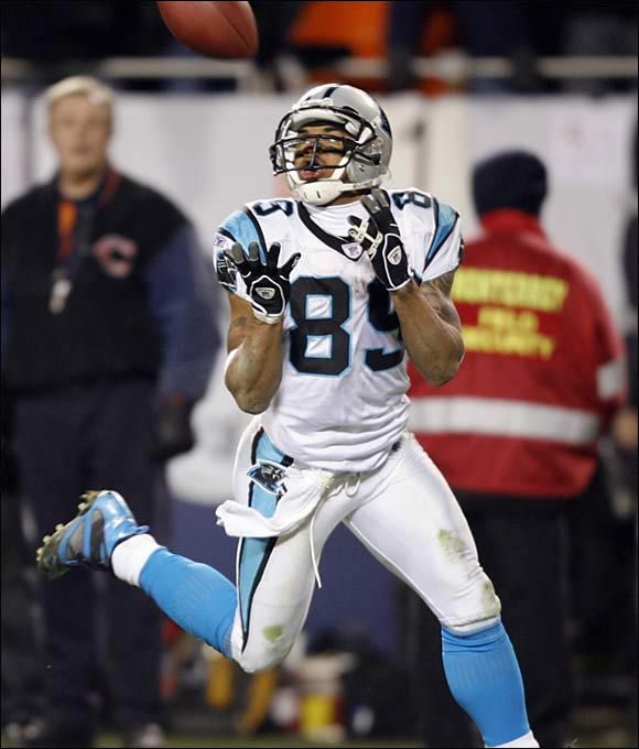 Teams avoided the Utah product because he's only 5-foot-9, 185 pounds. But he made an instant splash for the Panthers, earning a trip to the Pro Bowl as a rookie because of his outstanding punt- and kick-return skills. Then Smith developed into a dominant receiver. In 2005, he had 103 catches for 1,563 yards and 12 touchdowns. At the end of the 2013 season he was Carolina's all-time leader in total touchdowns (69), receptions (800, and receiving yards (11,785), and he led all active players in all-purpose yardage.