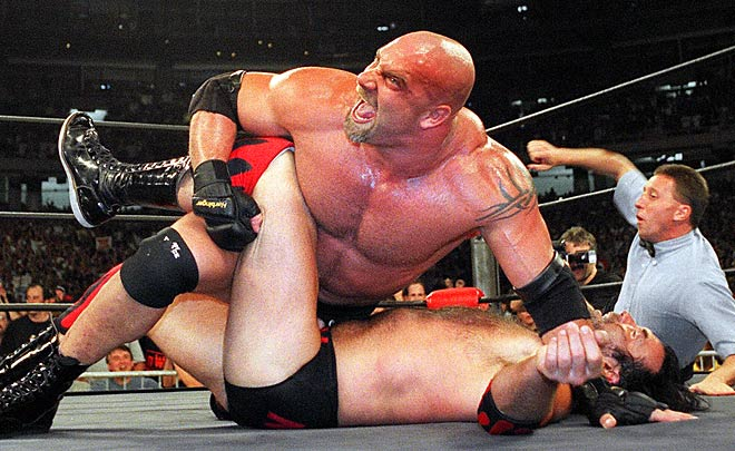 Goldberg was taken by the Rams in the 11th round of the 1990 draft and played for a short time as a defensive tackle for the Falcons. He then went on to be one of the world's most famous pro wrestlers.