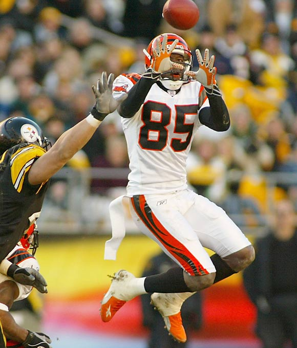The Bengals found three offensive stars in WR Chad Johnson (second round), RB Rudi Johnson (fourth round) and WR T.J. Houshmandzadeh (seventh round) and landed solid DE Justin Smith in the first round.