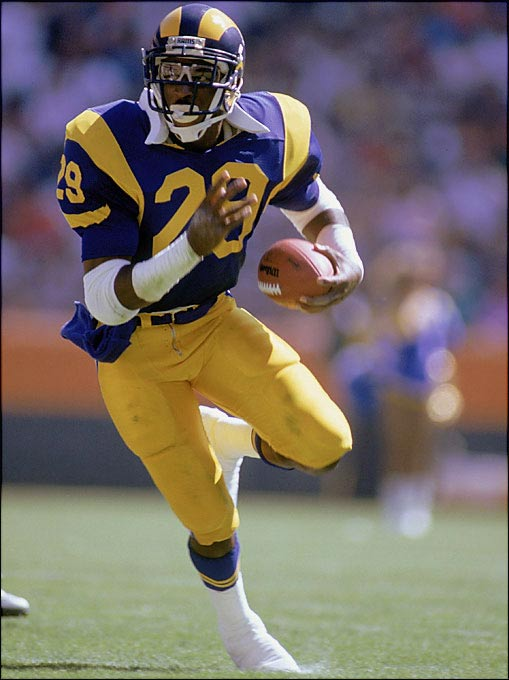 He didn't look fast, but if there was a hole, Dickerson would get through it. Dickerson was an immediate smash, setting rookie records for most rushing attempts (390), most rushing yards gained (1,808) and most rushing TDs (18).