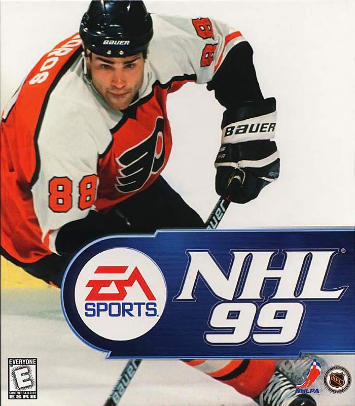 "The ""Madden Curse"" originally began as an EA Sports curse, notably in its NHL series, after Lindros appeared on the cover of NHL '99. <br> During the 1998-99 season, Lindros had amassed an impressive 93 points in 71 games, until his season came to an abrupt end with a collapsed lung during a game in Carolina. The following season he was stripped of his captaincy after criticizing team doctors and missed 10 weeks to post-concussion syndrome. During Game 7 of the Eastern Conference Finals, he suffered a major concussion when hit by Devils' defenseman Scott Stevens in just his second game since returning from PCS. That would be his last game in a Flyers uniform, as he sat out the entire 2000-01 season in a contract dispute and was consequently traded to the Rangers."