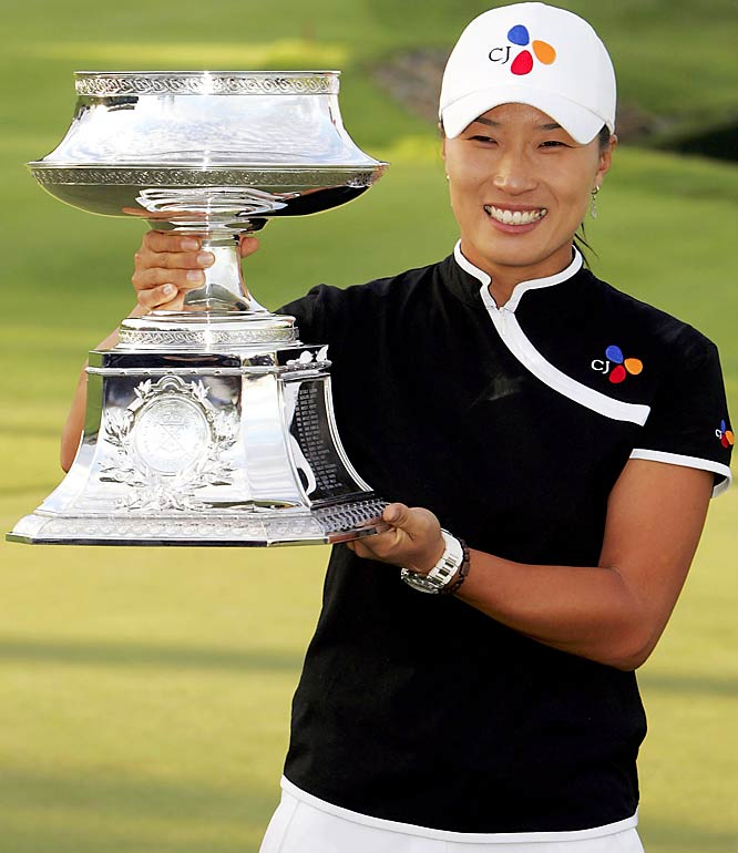 The reigning LPGA champion overcame a three-putt bogey on the 18th hole to win last year's tournament for the first time since 2004. She's the fifth three-time winner of the LPGA Championship.