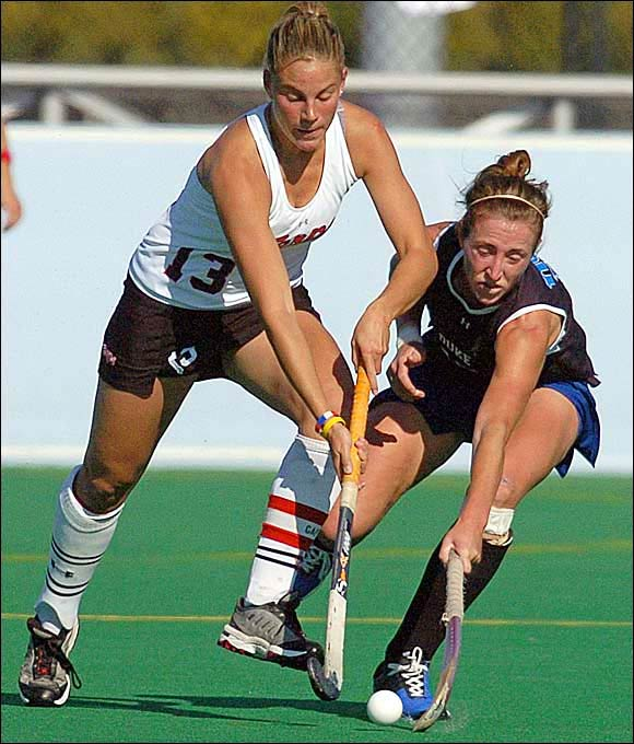 Reigning champion Maryland defeated rival Duke 1-0 to win the school's fourth field hockey championship. Junior midfielder Paula Infante was a rock for the Terps all season, winning National Player of the Year honors.