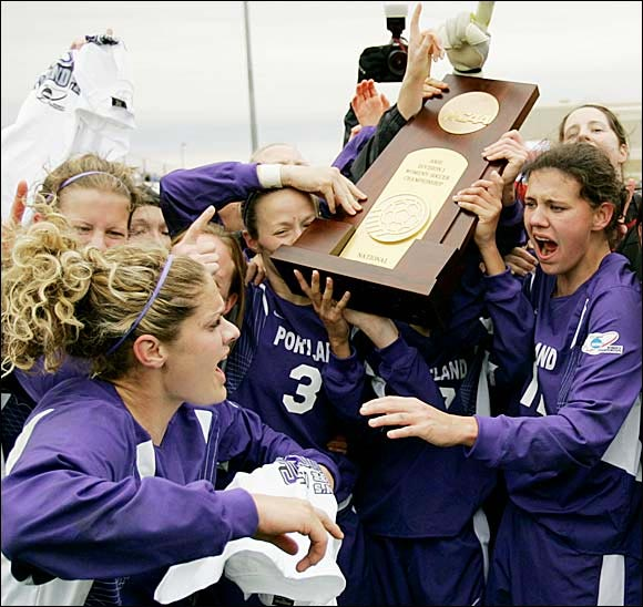 Reigning champion Portland capped an unbeaten season (24-0-2) to win its second national title in three years. The Pilot, which became the only team other than North Carolina to remain undefeated while winning the championship, were led by Christine Sinclair, who set the tournament's all-time goal-scoring record, with 25.