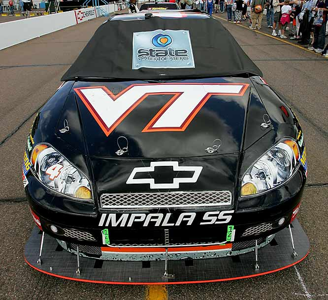 NASCAR driver Ward Burton's Nextel Cup Series car revealed the feelings of his Morgan-McClure Motorsports team, which is based in Virginia.