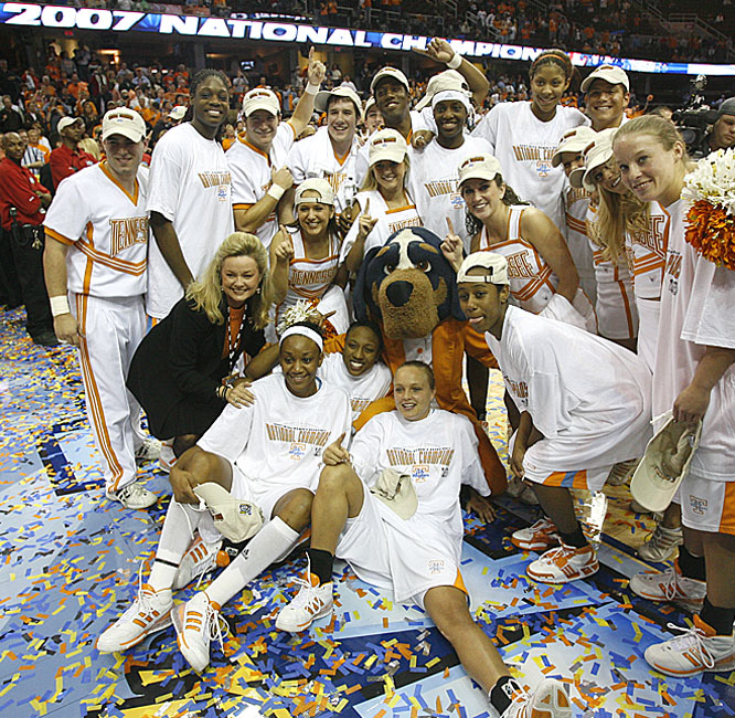 Tennessee, which came away empty handed in its last five tournament visits, finished the season with a 34-3 record -- and the trophy.