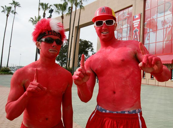What is it about Opening Day that makes people think they need to be shirtless?