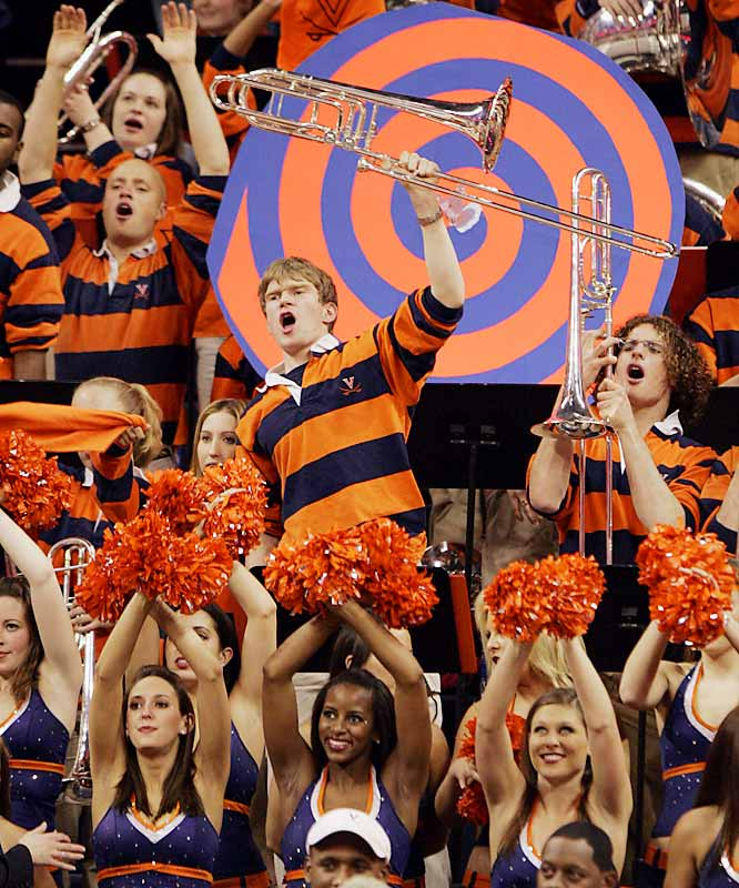 Virginia fans did their best to distract a Virginia Tech free throw shooter during an ACC game last March.
