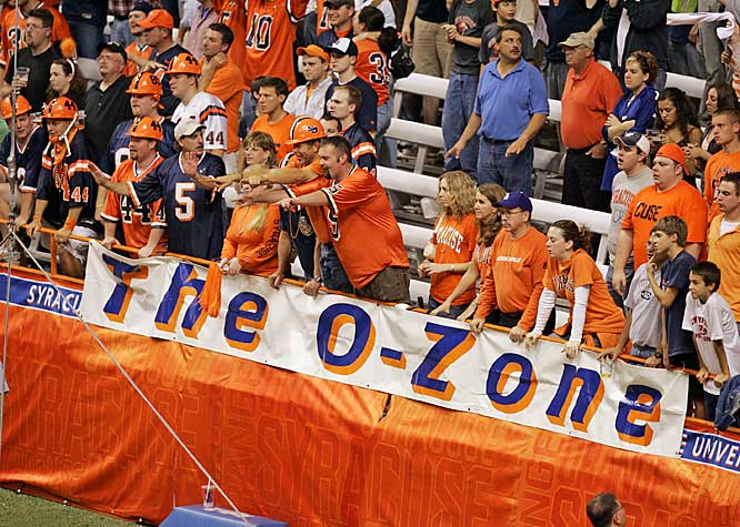 Forget Michigan State. Syracuse has its own O-Zone, which was on display during this September 2006 game against Miami (Ohio).