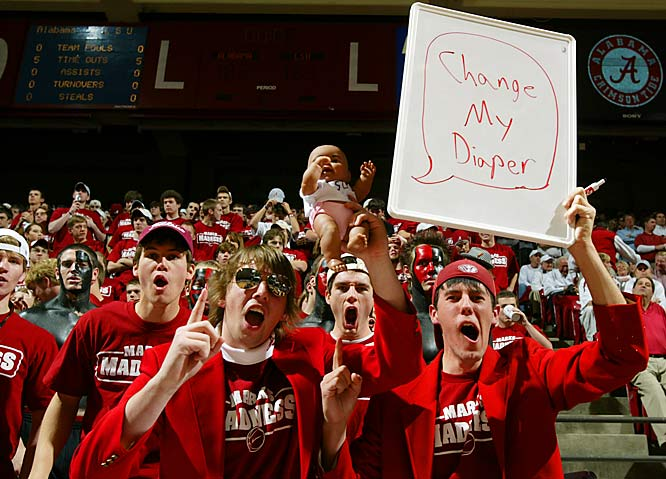 Alabama fans are so enthused over the Tide's win over LSU, they, well .... the sign says it all.