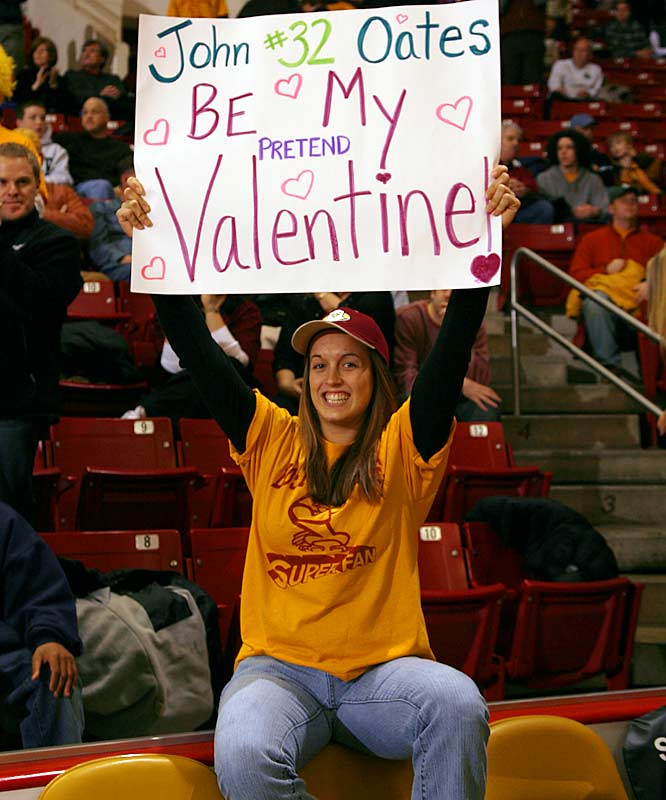 BC forward John Oates' not-so-secret admirer.