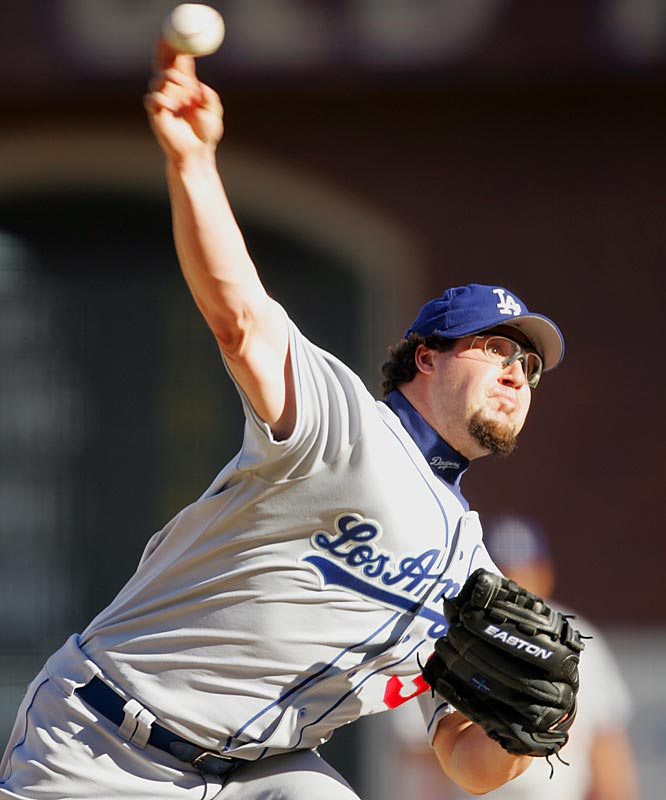 Fearsome facial hair is a tradition among closers, and Gagne's goatee was pure chin music during his dominant years with the Dodgers.
