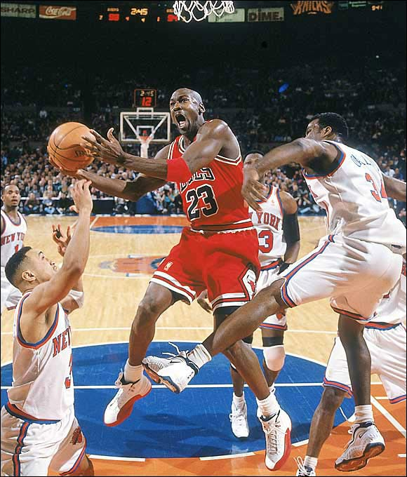 Jordan's father was murdered in August 1993, prompting him to retire from the game two days before the '93-'94 season began. Jordan turned to baseball and had a largely unsuccessful stint in the minor leagues. In March 1995, Jordan returned to the NBA. The next season, Jordan and the Bulls won the first of three more NBA titles.