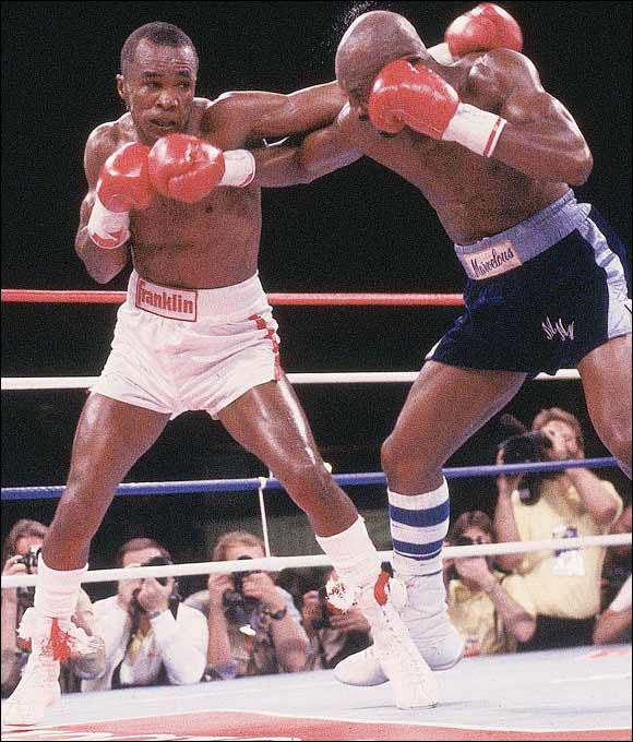 Leonard originally retired as a world champion after suffering a detached retina in 1982. He returned for one fight in 1984 against Kevin Howard and then retired again. Then in 1987, Leonard came back for a historic bout against middleweight champion Marvin Hagler. Leonard, a huge underdog, won a controversial split decision to regain the belt.