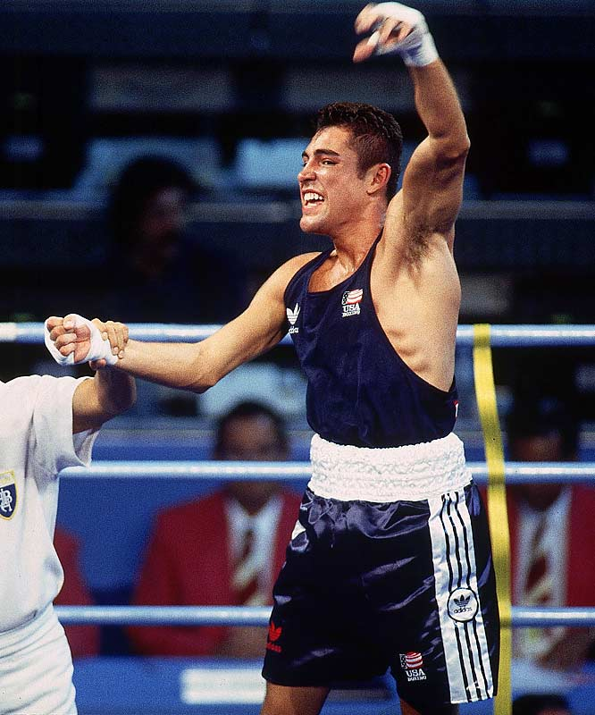 In the 132-pound Olympic final, De La Hoya, 19,  punched out a 7-2 victory over Rudolph of Germany, the man who'd beaten him the year before in the world championships. De La Hoya claimed the U.S.'s only boxing gold medal at the Barcelona Games and fulfilled the promise he'd made two years earlier to his mother, Cecilia, just before she died of breast cancer at age 38.<br><br>Visit SI.com for a live round-by-round of De La Hoya-Mayweather on Saturday.