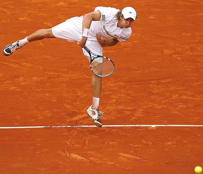 Igor Andreev of Russia upset Andy Roddick, 3-6, 6-4, 6-3, 6-4.