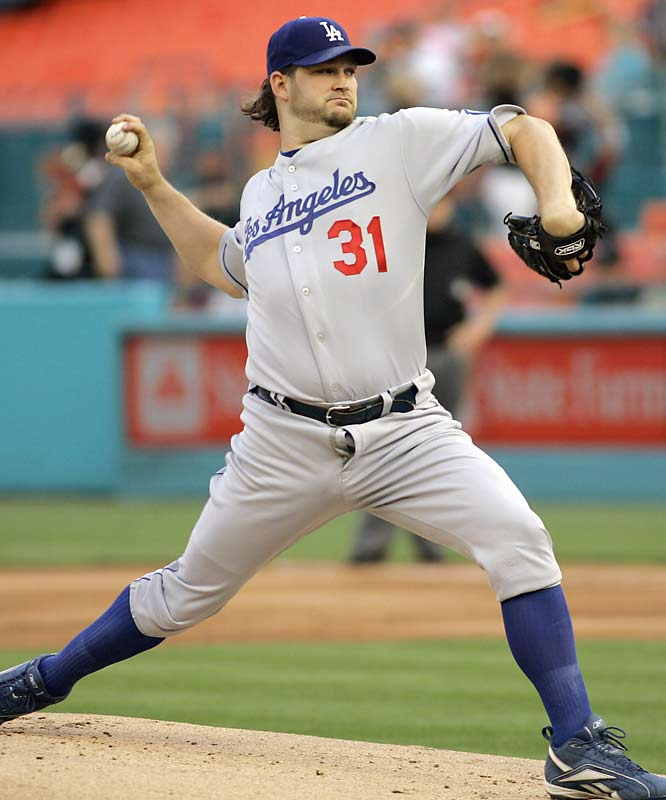 Dodgers pitcher Brad Penny decided to get some air during his start against the Marlins last weekend.