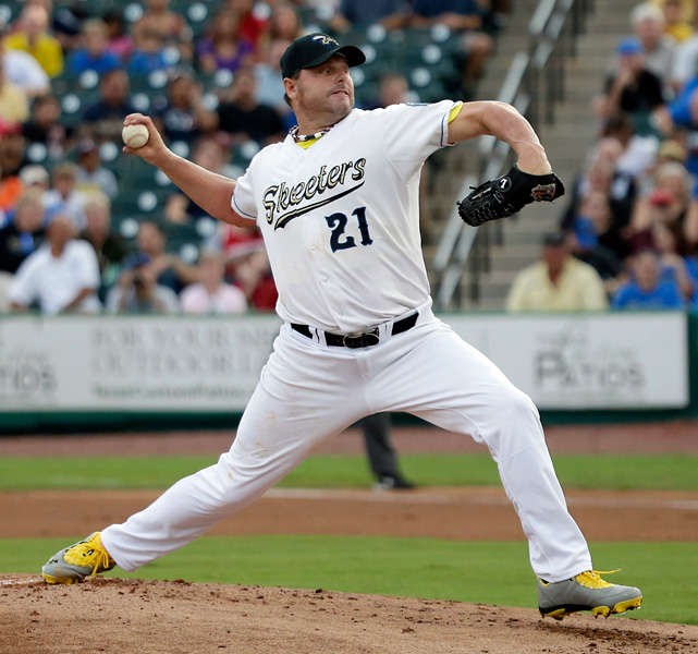 On Aug. 25, 2012, Roger Clemens was back on the mound at age 50, striking out hitters again. Pitching for the first time in five years, Clemens tossed 3 1/3 scoreless innings for the Sugar Land Skeeters of the independent Atlantic League.