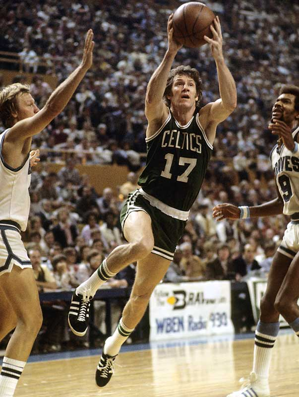 One of only 10 players to score more than 26,000 career points, Havlicek was a key reason why the Celtics kept winning championships even after Bill Russell retired. One of the most versatile and fit players ever, Havlicek could do it all -- score, defend, pass, rebound -- and do it tirelessly. Twenty-nine years after his retirement, Havlicek is still the Celtics' all-time scoring leader, and he played more minutes in one uniform than any player other than John Stockton and Karl Malone.