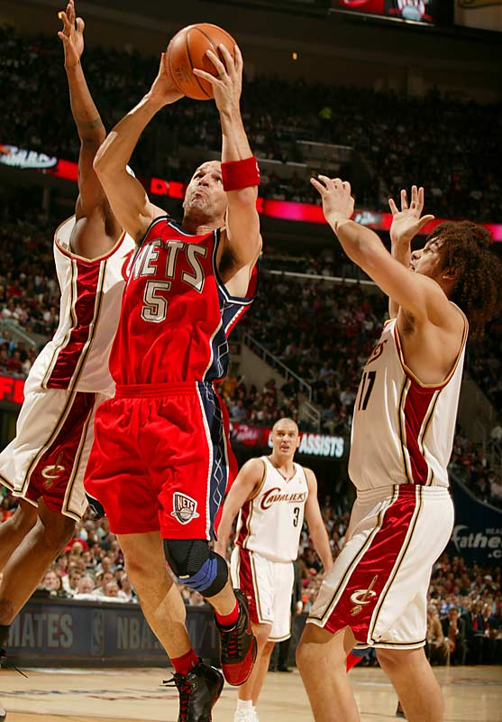 Jason Kidd registered 20 points, nine boards, and four steals as the New Jersey Nets stayed alive with a win over the Cavs in Cleveland.