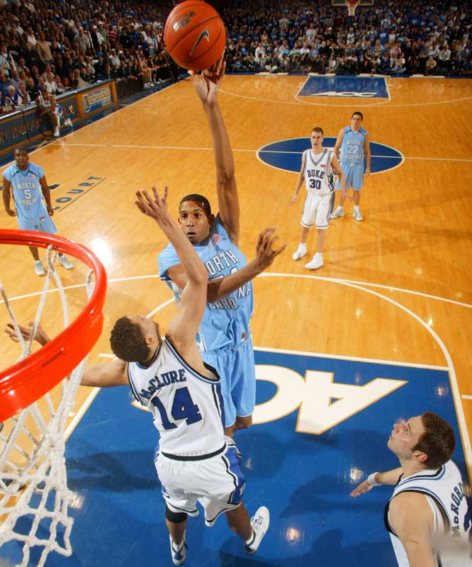 The ACC's rookie of the year was the Tar Heels second-leading scorer (14.7) and rebounder (6.2).