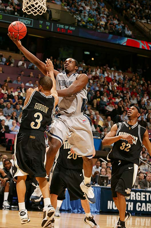 He paced the Hoyas in scoring (14.3) and was second in assists (3.2) and rebounds (6.4).