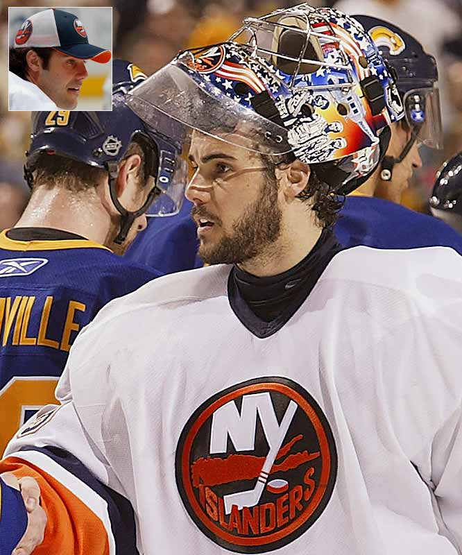 Players traditionally start growing their beards just before the playoffs begin, but Islanders netminder Rick DiPietro obviously got started early. His team was eliminated in only five games of the first round.