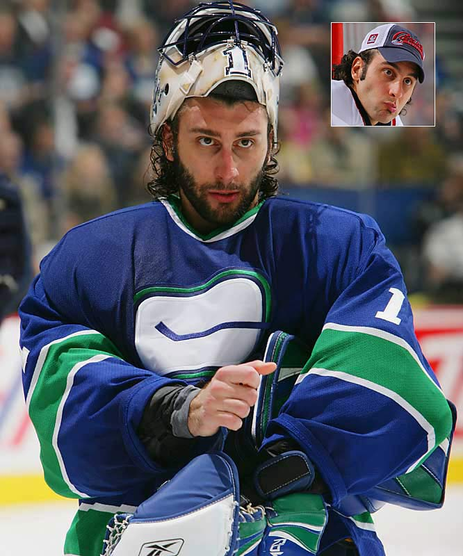 Vancouver's Roberto Luongo carried his team five games deep into the second round, giving his shrubbery time to thicken.