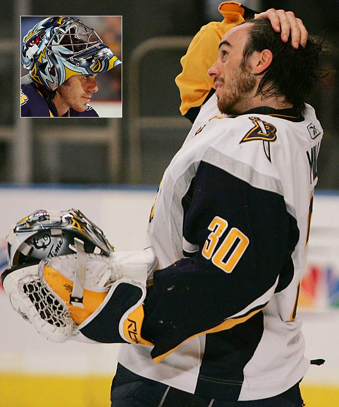 Even goaltenders sport beards. Did Buffalo's Ryan Miller take a little off the top to fill in the gaps below?